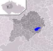 Městys Lite - mapa