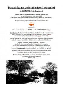 Pozvánka stromky